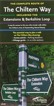Map of the Complete Chiltern Way, Sheet map, folded Book