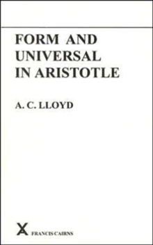 Form and Universal in Aristotle, Paperback / softback Book