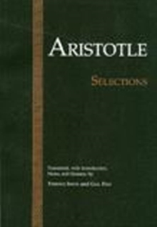 Aristotle: Selections, Paperback / softback Book