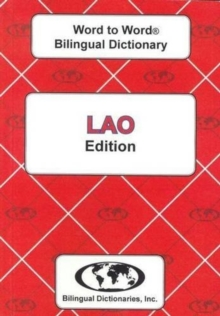 English-Lao & Lao-English Word-to-Word Dictionary, Paperback / softback Book