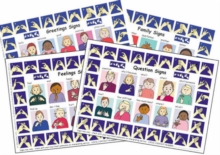 Let's Sign: BSL Poster/Mats A4 Set of 4 : Poster/Mats Set 1, Wallchart Book