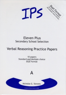 Verbal Reasoning Practice Papers : Dual Format Set  A, Paperback Book