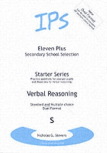 Eleven Plus : Verbal Reasoning Questions for Younger Pupils Bk. S, Paperback Book