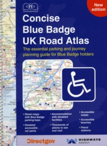 Concise Blue Badge UK Road Atlas, Spiral bound Book