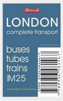 London Complete Transport : Microscale Map of Buses Tubes Trains Inside M25, Sheet map, folded Book