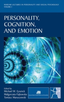 Personality, Cognition, and Emotion, Hardback Book