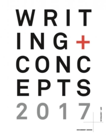 Writing and Concepts: Vol.2. 2017, Paperback / softback Book
