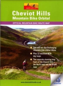 Cheviot Hills Mountain Bike Orbital Map : Waterproof Route Map, Sheet map, folded Book