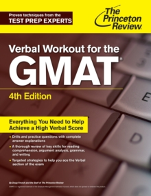 Verbal Workout For The Gmat, 4Th Edition, Paperback / softback Book