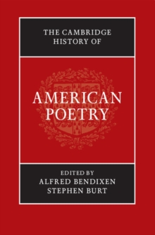 The Cambridge History of American Poetry, Hardback Book
