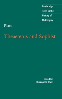 Plato: Theaetetus and Sophist, Hardback Book