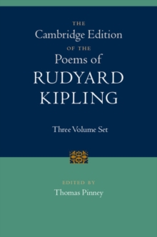 The Cambridge Edition of the Poems of Rudyard Kipling 3 Volume Hardback Set, Multiple copy pack Book