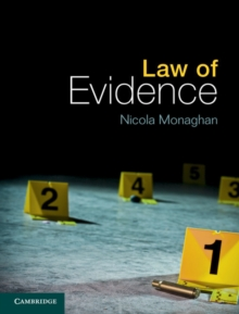 Law of Evidence, Hardback Book