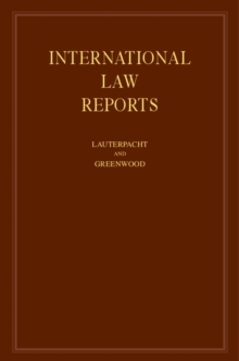International Law Reports : Volume 149, Hardback Book