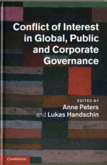 Conflict of Interest in Global, Public and Corporate Governance, Hardback Book