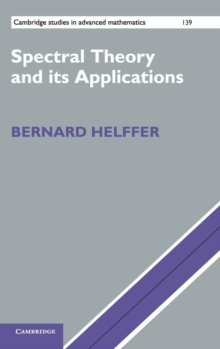 Spectral Theory and its Applications, Hardback Book