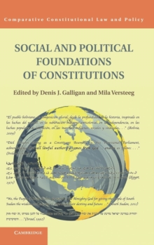 Social and Political Foundations of Constitutions, Hardback Book