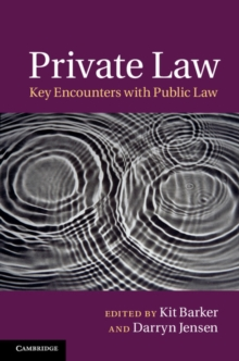 Private Law : Key Encounters with Public Law, Hardback Book