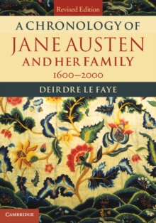 A Chronology of Jane Austen and Her Family : 1600-2000, Hardback Book