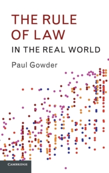 The Rule of Law in the Real World, Hardback Book