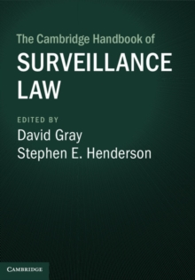 The Cambridge Handbook of Surveillance Law, Hardback Book