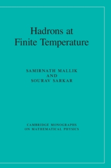 Cambridge Monographs on Mathematical Physics : Hadrons at Finite Temperature, Hardback Book
