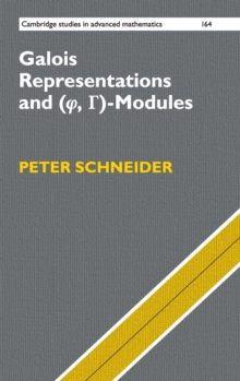 Cambridge Studies in Advanced Mathematics : Galois Representations and (Phi, Gamma)-Modules Series Number 164, Hardback Book