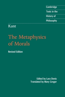 Kant: The Metaphysics of Morals, Paperback Book