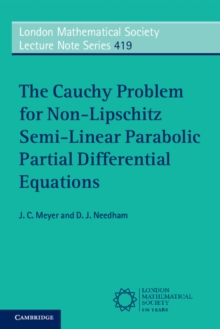 The Cauchy Problem for Non-Lipschitz Semi-Linear Parabolic Partial Differential Equations, Paperback / softback Book