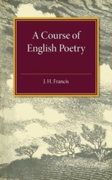 A Course of English Poetry, Paperback Book