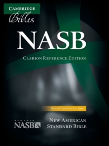 NASB Clarion Reference Bible, Black Calf Split Leather, NS484:X, Leather / fine binding Book