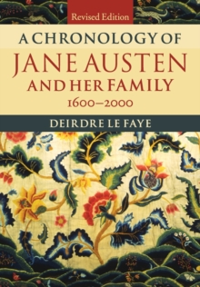 A Chronology of Jane Austen and her Family : 1600-2000, Paperback / softback Book