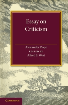 Essay on Criticism : Edited with Introduction and Notes, Paperback / softback Book