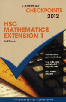 Cambridge Checkpoints : Cambridge Checkpoints HSC Mathematics Extension 1 2012, Paperback / softback Book