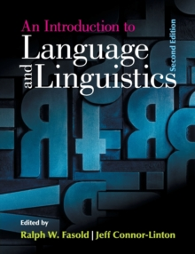 An Introduction to Language and Linguistics, Paperback / softback Book