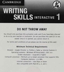 Grammar and Beyond Level 1 Writing Skills Interactive (Standalone for Students) via Activation Code Card, Digital product license key Book
