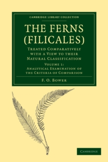 The Ferns (Filicales): Volume 1, Analytical Examination of the Criteria of Comparison : Treated Comparatively with a View to their Natural Classification, Paperback / softback Book