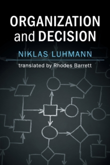 Organization and Decision, Paperback / softback Book