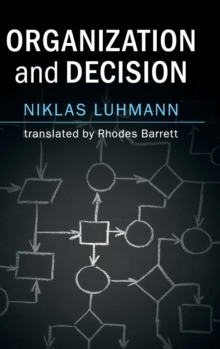 Organization and Decision, Hardback Book