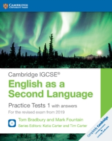 Cambridge IGCSE (R) English as a Second Language Practice Tests 1 with Answers and Audio CDs (2) : For the Revised Exam from 2019, Mixed media product Book