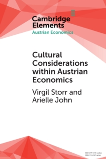 Cultural Considerations within Austrian Economics, Paperback / softback Book