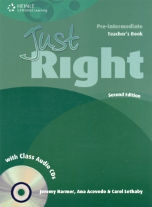 Just Right Pre-intermediate: Teacher's Book with Class Audio CD, Mixed media product Book