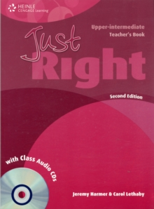 Just Right Upper Intermediate: Teacher's Book with Class Audio CD, Mixed media product Book