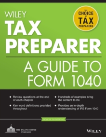 Wiley Tax Preparer : A Guide to Form 1040, Paperback / softback Book