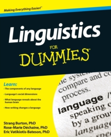 Linguistics for Dummies, Paperback Book