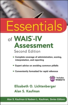 Essentials of WAIS-IV Assessment, Paperback Book
