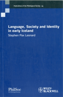 Language, Society and Identity in Early Iceland, Paperback / softback Book