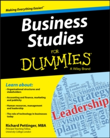 Business Studies For Dummies(R), Paperback Book