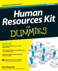 Human Resources Kit for Dummies, 3rd Edition, Paperback Book