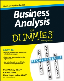 Business Analysis for Dummies, Paperback / softback Book